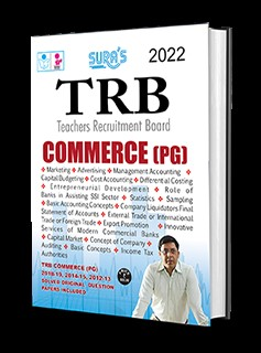 SURA`S TRB PG COMMERCE Exam Books - LATEST EDITION 2022