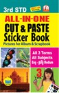 3rd Standard All in One Cut & Paste Sticker Book Tamilnadu State Board Samcheer Syllabus