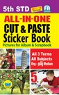 5th Standard All in One Cut & Paste Sticker Book Tamilnadu State Board Samcheer Syllabus