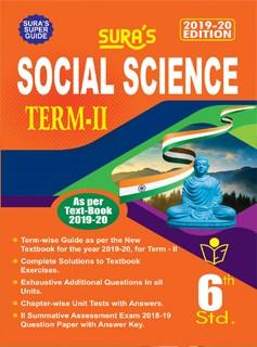 SURA`s 6th Standard Social Science (Term 2) Exam Guide 2019 in English Medium