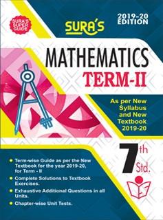 SURA`S 7th Standard Guide Mathematics Term 2 Exam Guide 2019 English Medium (New Syllabus 2019-20 Edition)