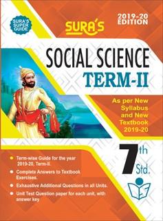 SURA`S 7th Standard Guide Social Science Term 2 Exam Guide 2019 English Medium (New Syllabus 2019-20 Edition)