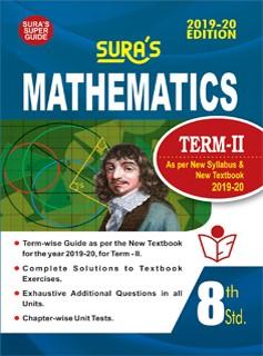 SURA`S 8th Standard Guide Mathematics Term 2 Exam Guide 2019 English Medium (New Syllabus 2019-20 Edition)