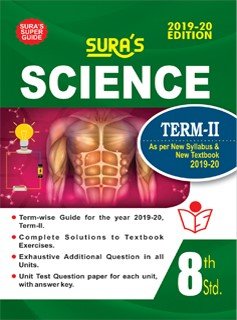 SURA`S 8th Standard Guide Science Term 2 Exam Guide 2019 English Medium (New Syllabus 2019-20 Edition)