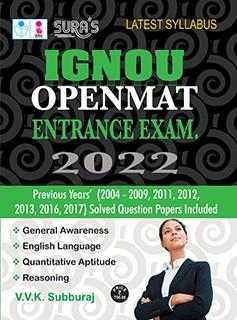 SURA`S IGNOU Openmat MBA & MCA Entrance Exam Books - LATEST EDITION 2022