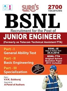 BSNL Telecom Technical Assistants(TTA)Exam Books 2016 & Original Solved Question Paper