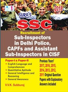 SSC CPO Sub Inspector in Delhi Police CAPF & Assistant SI CISF Exam Books 2018