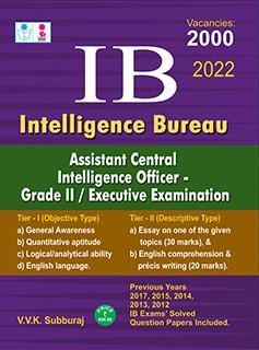 SURA`S IB (Intelligence Bureau ) Assistant Central Intelligence Officer Grade II Executive Exam Books in English - Latest Edition 2022