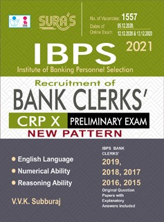 IBPS Bank Clerks (CRP X) Prelims Study Books & Solved Question Papers Guide