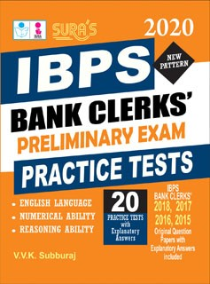 IBPS Bank Clerks Preliminary Exam Practice Test Books 2019