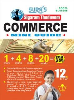 12th Standard Sigaram Thoduvom Commerce Mini Guide Book English Medium Tamilnadu State Board Syllabus