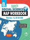 8th Standard Social Science Map Work Book Term I II and III English Medium Tamilnadu State Board Samcheer Syllabus