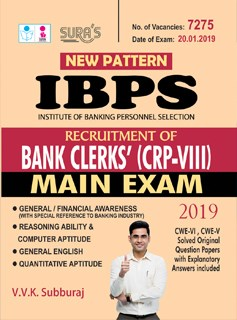 IBPS Recruitment of Bank Clerks CRP VIII Main Exam Study Material Books