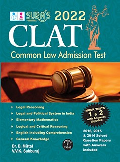 SURA`S Common Law Admission Test ( CLAT ) & Solved Questions and Answers Exam Books - Latest Edition 2022