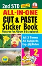 2nd Standard All in One Cut and Paste Sticker Book