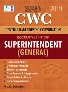 CWC (Central Warehousing Corporation) Superintendent (General) Exam Books 2019