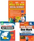10th Standard (Will To Win) Social Science Exam Guide 2017 With Map Workbook & One Mark Question And Answers Guide