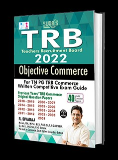 SURA`S TRB Objective Commerce for TN TRB PG Exam Books - LATEST EDITION 2022