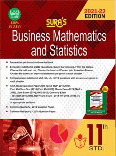 SURA`S 11th Standard Business Mathematics and Statistics Guide 2021-22 Edition