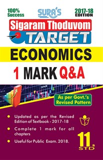 11th Standard Economics ( Sigaram Thoduvom ) ( Target ) 1 Marks Question and Answers Guide 2020 in English