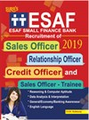 ESAF(ESAF Small Finance Bank)Sales,Relationship,Credit Officers & Sales Trainee Exam Books 2018