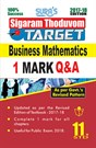 11th Standard Business Mathematics ( Sigaram Thoduvom ) ( Target ) 1 Marks Question and Answers and Previous Years Solved Paper Guide 2017 in English