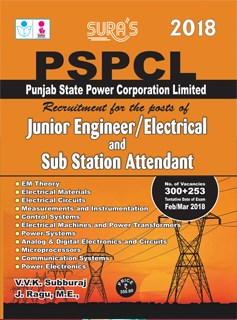 PSPCL Junior Engineer Electrical and Sub Station Attendant Exam Books 2018