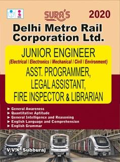 DMRC Junior Engineer, Asst Programmer ,Legal Assistant ,Fire Inspector & Librarian Exam Books 2020