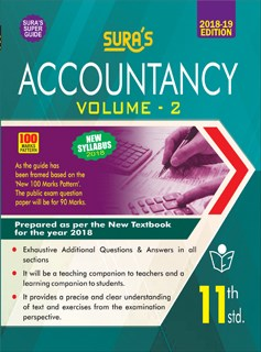 11th Standard (New Textbook) Accountancy Volume II  Exam Guide 2018