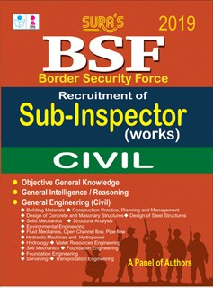 Border Security Force(BSF) Sub-Inspector(Works) Civil Exam Books 2018