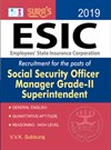 ESIC Social Security Officer, Manager Grade-II Superintendent Exam Books 2018