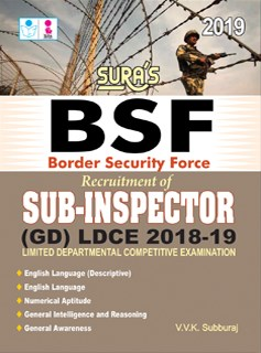 Border Security Force(BSF) Sub-Inspector SI (GD) LDCE Exam Books 2019