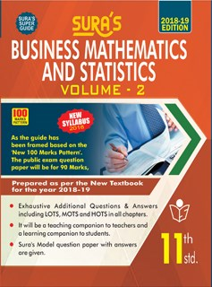 11th Standard (New Textbook) Business Mathematics and Statistics Vol II English Medium Guide 2018