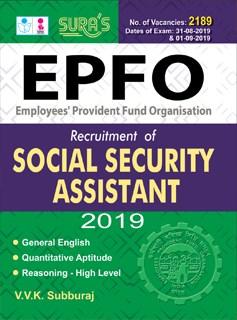 EPFO Social Security Assistant(SSA) Exam Books 2019