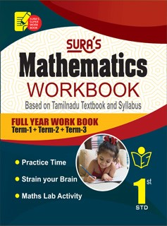 Sura`s 1st Std Mathematics Full Year Workbook Exam Guide (Latest Edition)