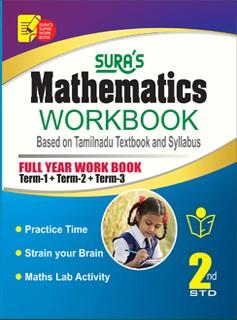 Sura`s 2nd Std Mathematics Full Year Workbook Exam Guide