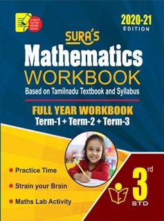 Sura`s 3rd Std Mathematics Full Year Workbook Exam Guide (Latest Edition)