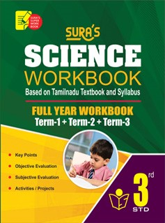 Sura`s 3rd Std Science Full Year Workbook Exam Guide (Latest Edition)