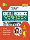 Sura`s 4th Std Social Science Full Year Workbook Exam Guide (Latest Edition)