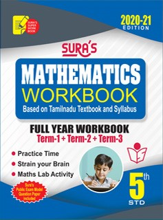 Sura`s 5th Std Mathematics Full Year Workbook Exam Guide (Latest Edition)