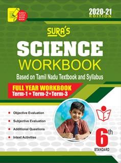 Sura`s 6th Std Science Full Year Workbook Exam Guide in English Medium(Latest Edition)