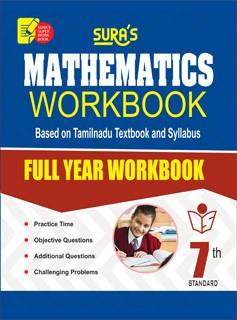 Sura`s 7th Std Mathematics Full Year Workbook Exam Guide in English Medium(Latest Edition)