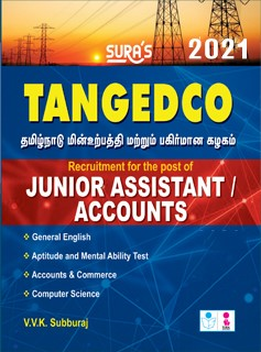 SURA`S TNEB TANGEDCO Junior Assistant and Accounts Exam Book 2021 in English