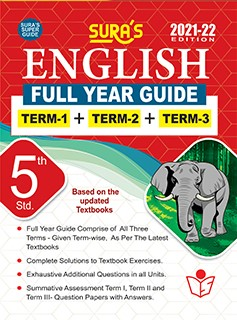 SURA`S 5TH STD ENGLISH FULL YEAR GUIDE (TERM1+TERM2+TERM3) 2021-22 Edition - based on Samacheer Kalvi Textbook 2021
