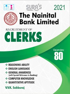 The Nainital Bank Limited Clerks (Clerical Cadre) Exam Study Materials in English Book 2020