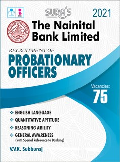 The Nainital Bank Limited Probationary Officers (PO) (Officers Grade/Scale I) Exam Study Materials in English Book 2021