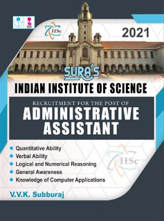 Indian Institute of Science (IISc) Administrative Assistant Exam Books 2020
