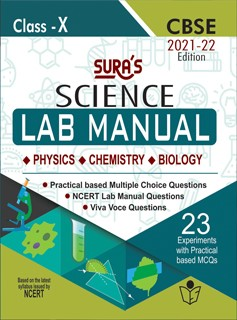 SURA`S 10th Std CBSE Science(Physics,Chemistry,biology) Lab Manual Guide 2021-22 Edition