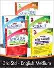 SURA`S 3rd STD All subjects in 1 bundle Offer For 3rd Std Students (Tamil, English, Mathematics, Science, Social Science) Set of 5 Guides - English Medium 2021-22 Edition - based on Samacheer Kalvi Textbook 2021